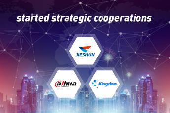 2019-07-05 Dahua and Kingdee started strategic cooperations with Jieshun.jpg